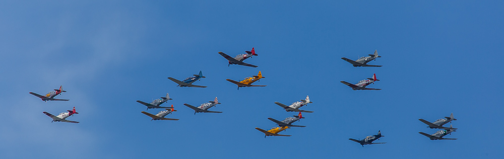 T-6 Texans in formation