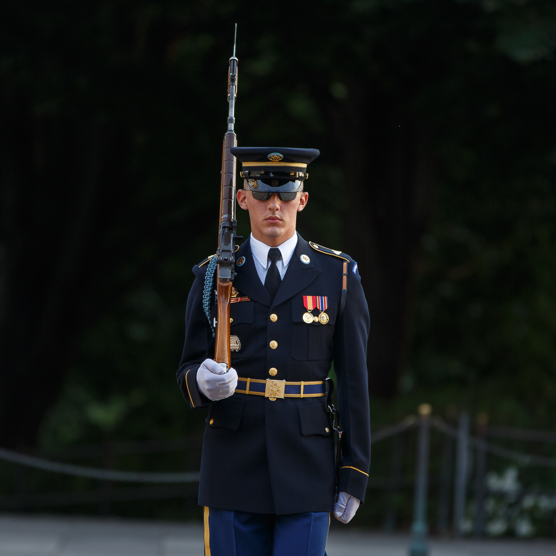 Arlington, Cemetery, sentry, sunrise, guard, tomb,