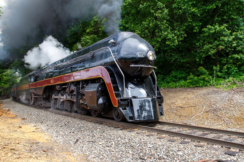 J-611, steam, engine, NS, Norfolk, Southern, railroad,