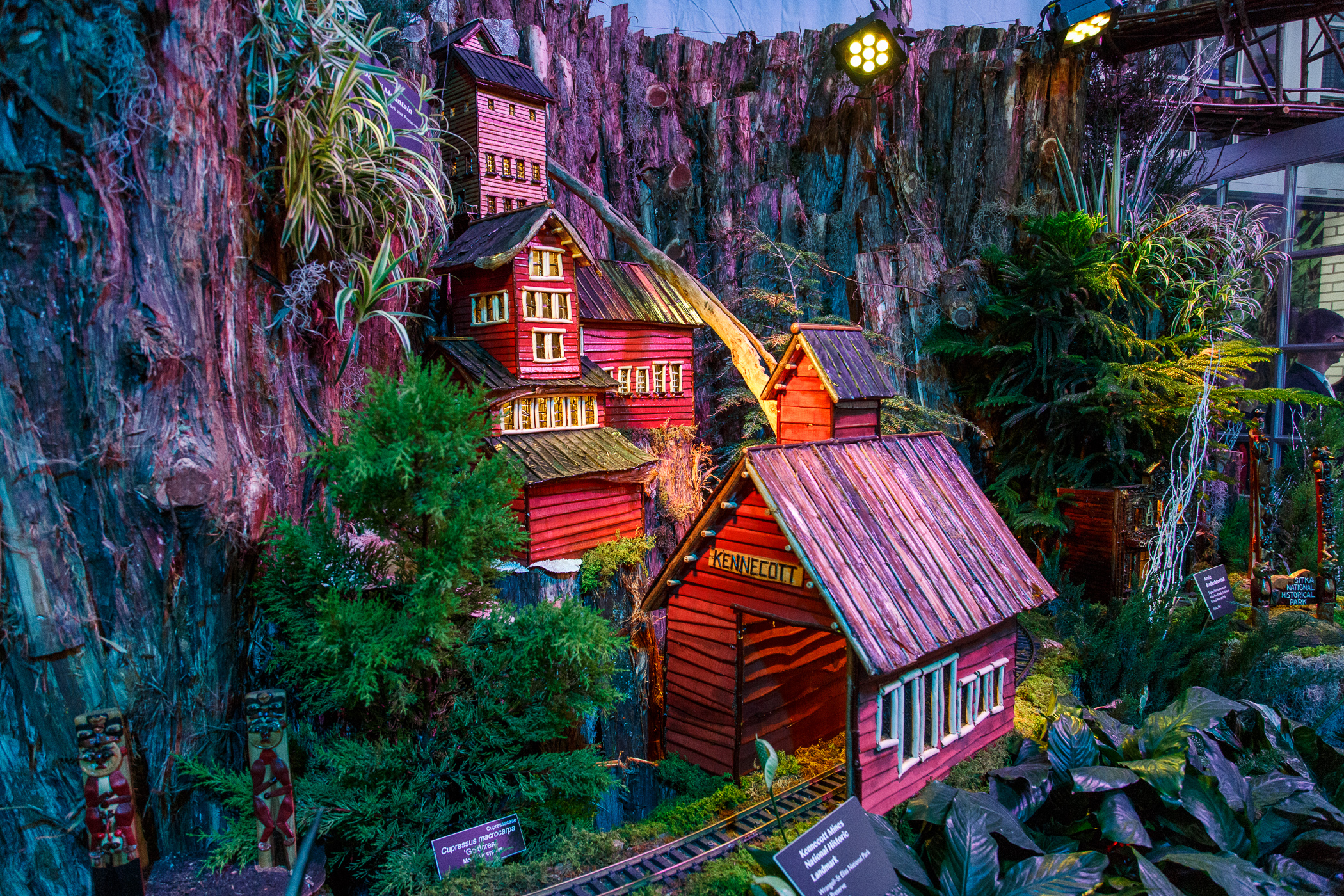National Botanical Garden, Washington, DC, Christmas, model railroad, g gauge, National Park Service, mine site,